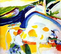 Peinture abstraite de Vassily Kandinsky La Vache 1910