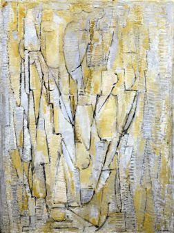 Peinture abstraite de Piet Mondrian compositie XI - 1912